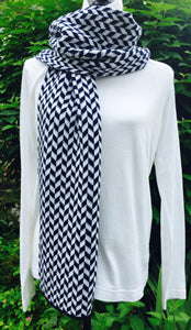Villanova Colors Chevron Scarf 9 x 60