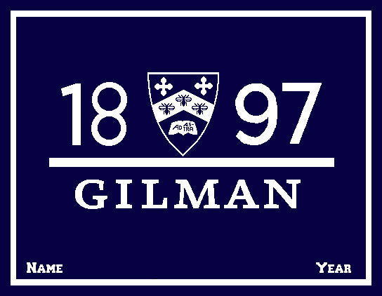 NEW GILMAN 1897 Shield Name & Year  50 x 60