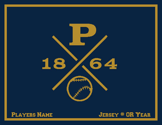 Peddie Baseball Blanket Customized Name & Number 60 x 50