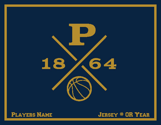 Peddie Basketball Blanket Customized Name & Number 60 x 50