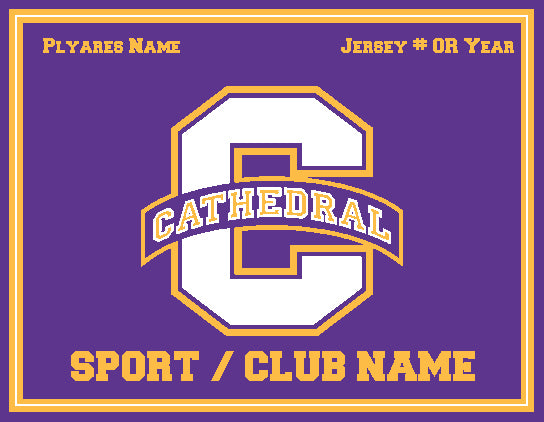 "NEW Any Sport/Club Cathedral ""C"" 60 x 50"