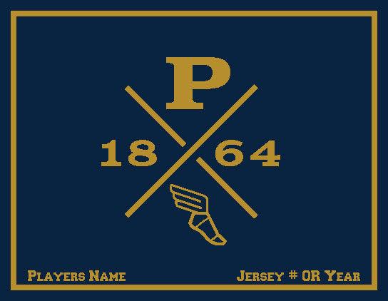 Peddie Track & Field Blanket Customized Name & Number 60 x 50