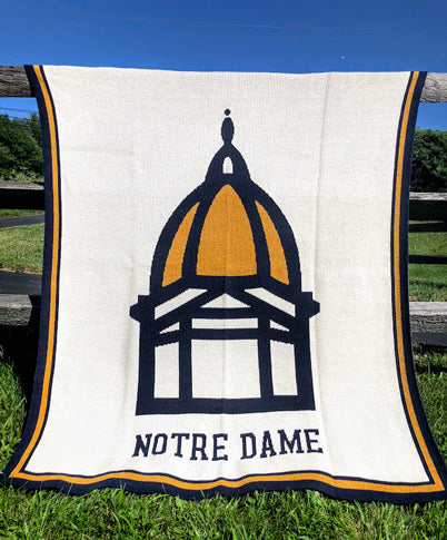 NEW ND Golden Dome Blanket  50 x 60