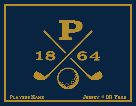 Peddie Golf Blanket Customized Name & Number 60 x 50