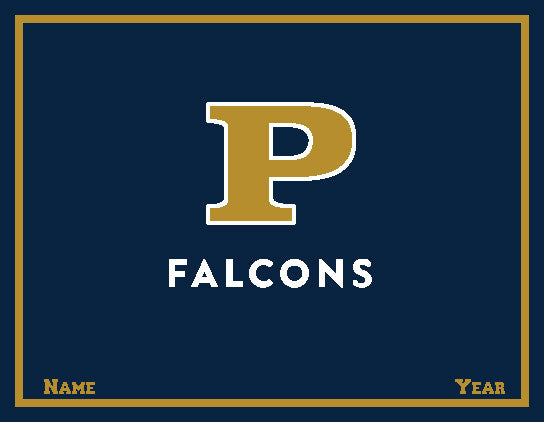 Peddie Falcons Blanket Customized Name & Year 60 x 50