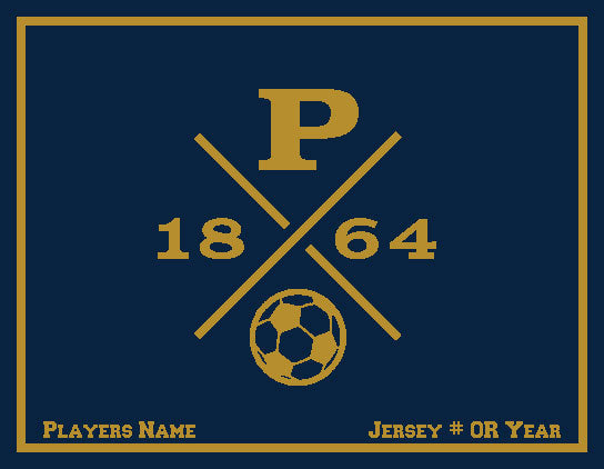 Peddie Soccer Blanket Customized Name & Number 60 x 50