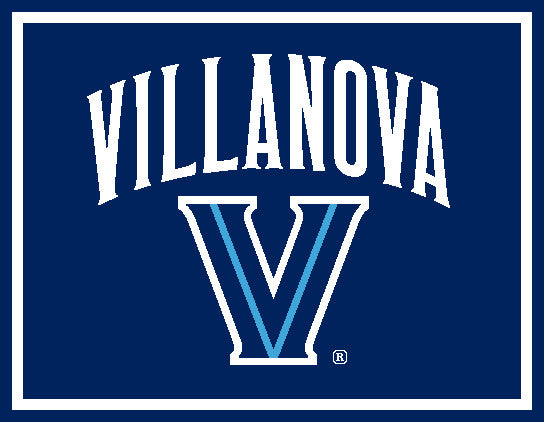 "Villanova Curved Logo 60"" x 50"" Navy"
