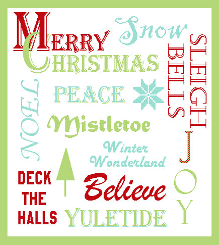 Christmas Words 57 x 67