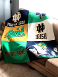 Notre Dame Athletic Multi Logo Blanket  50 x 60