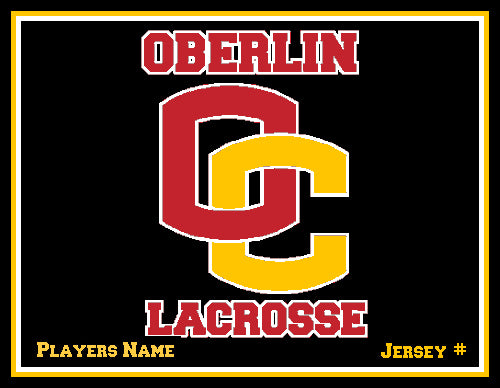 Custom Oberlin Lacrosse Name & Number 60 x 50