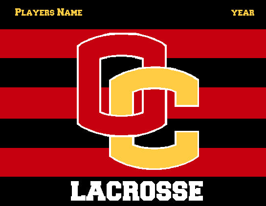 Custom Oberlin  Striped Lacrosse Name & Year 60 x 50