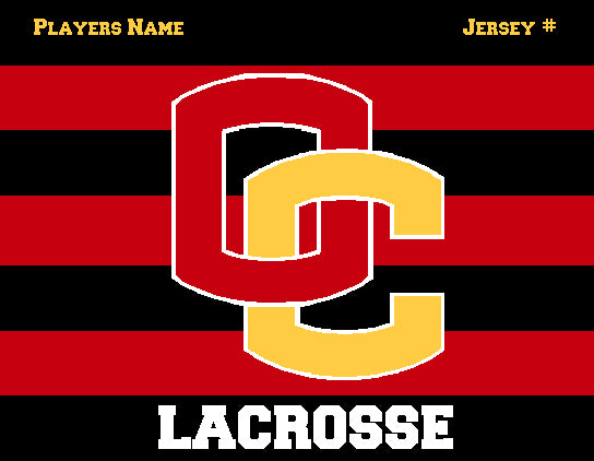 Custom Oberlin Striped  Lacrosse Name & Number 60 x 50