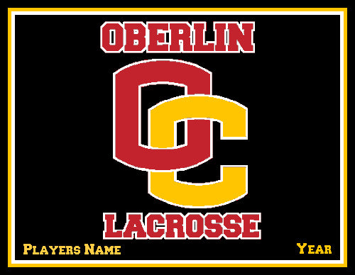 Custom Oberlin  Lacrosse Name & Year 60 x 50