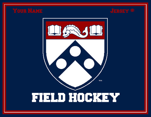 Custom PENN FH Academic Shield  Name & Number
