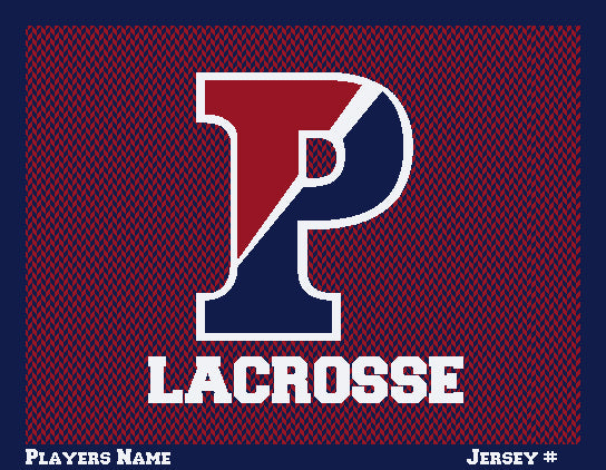 PENN Women's Chevron Lacrosse Customized with  Name & Number 60 x 50
