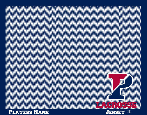 PENN Herringbone Lacrosse Customized   Name and Number  60 x 50