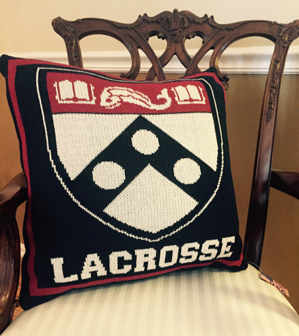 PENN Academic Shield Lacrosse Pillow 20 x 20