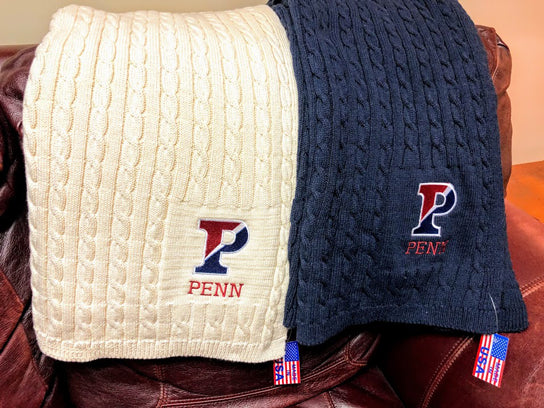 NEW Penn Navy Cable Blanket