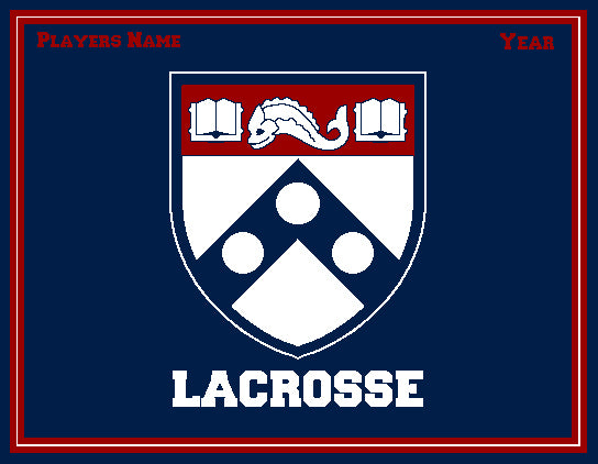 PENN Men's Shield Lacrosse Customized with Name & Year 60 x 50