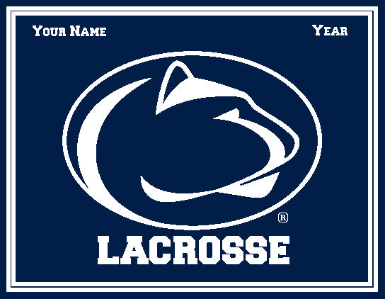 Penn State Custom Men's Lacrosse Name & Year