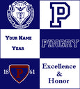 NEW Custom Pingry Multi Logo Add Name & Year Dorm, Office, Alumni, Tailgate Blanket