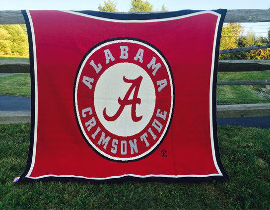 Alabama Seal Blanket Crimson 60 x 50