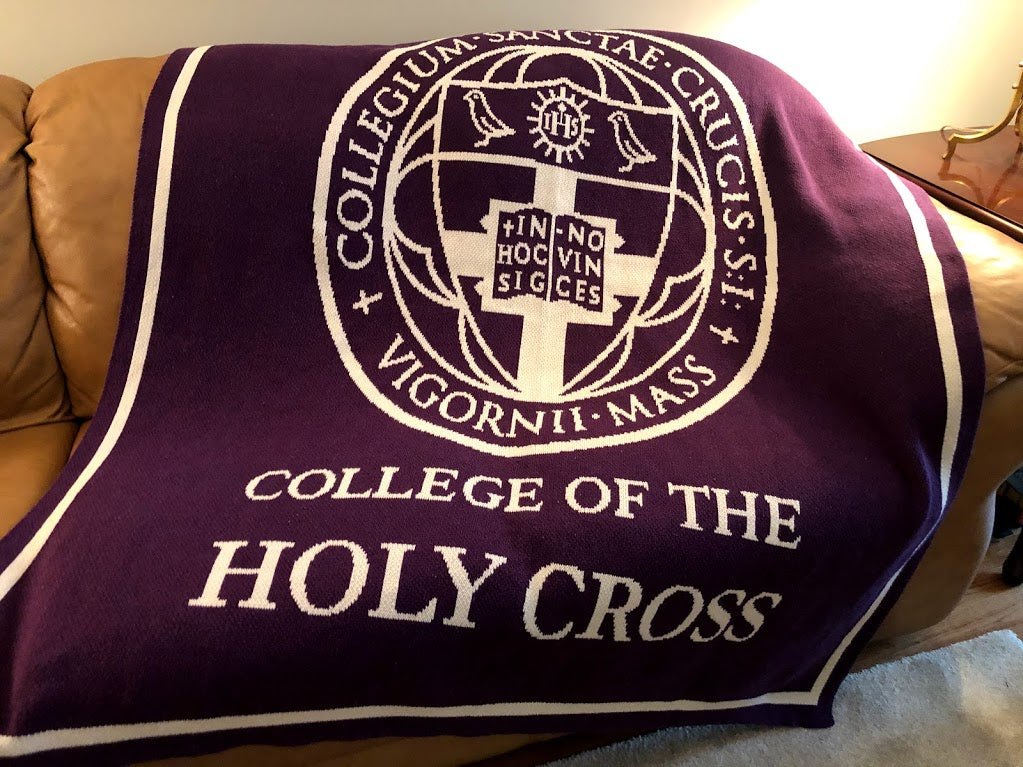 College of the Holy Cross SEAL Purple Base 60 x 50