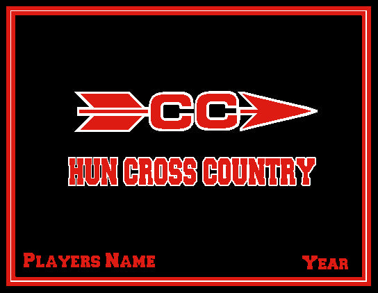 The Hun School  Cross Country Blanket Customized Name & Year 60 x 50