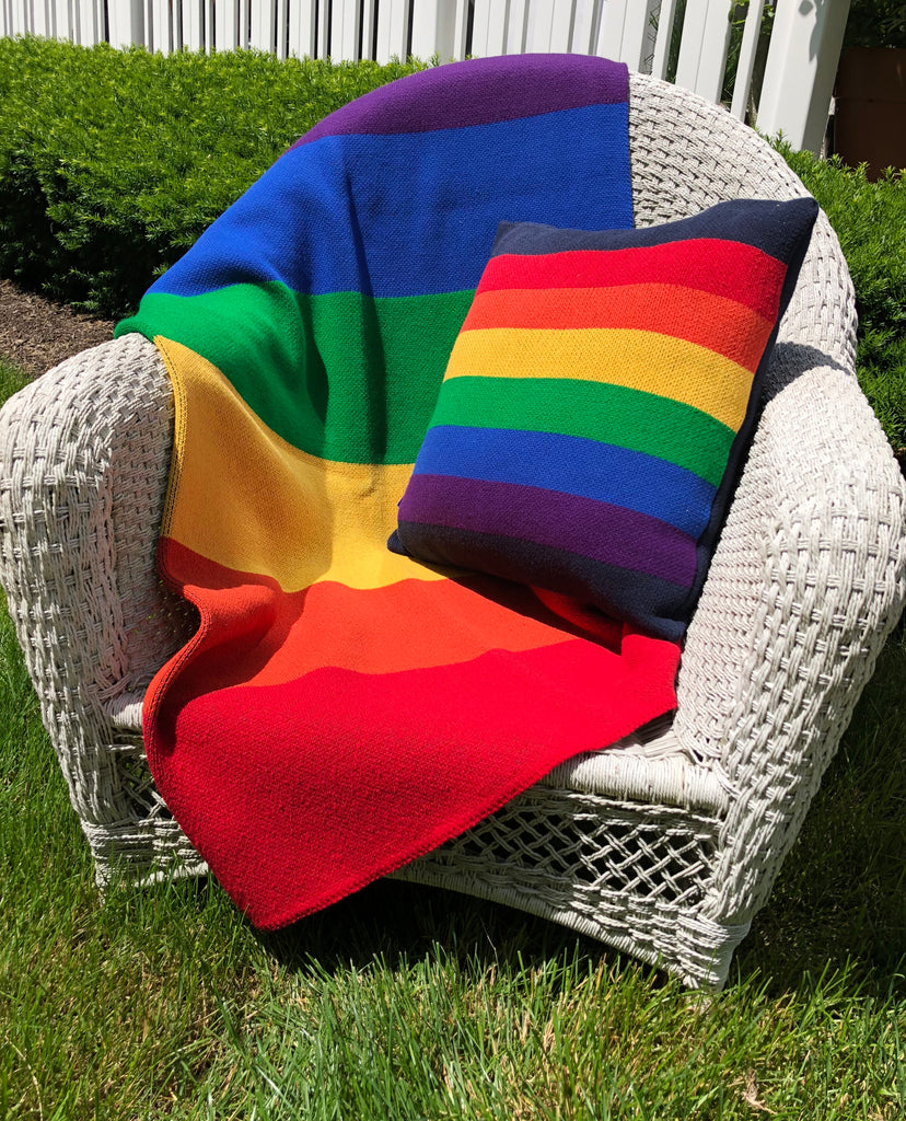 Rainbow Pillow 20 x 20