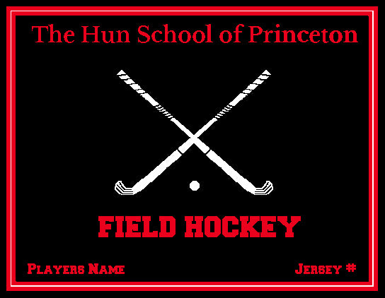 The Hun School  Field Hockey Blanket Customized Name & Year 60 x 50