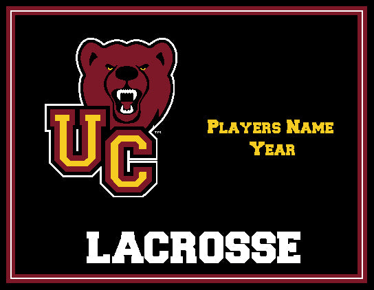 Custom Ursinus Lacrosse  Name and Year   60 x 50