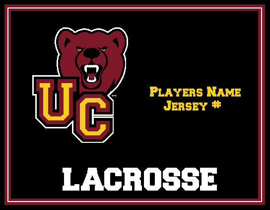 Custom Ursinus Lacrosse Name & Number 60 x 50