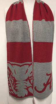 Alabama Roll Tide Scarf 9 x 60