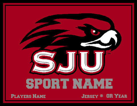 Custom St. Joseph's Athletic RED 60 x 50