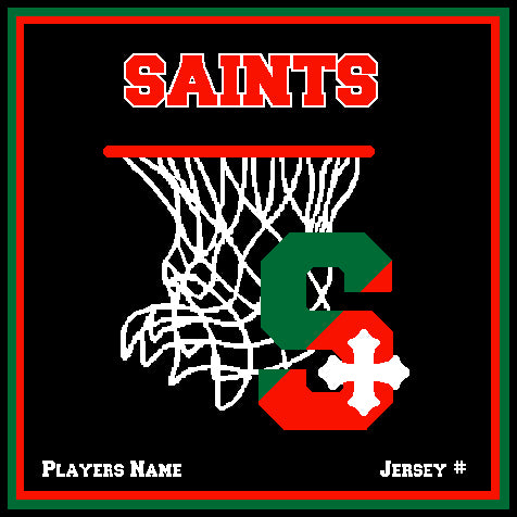 SSSA Basketball Blanket 50 x 60  Customized Name & Number