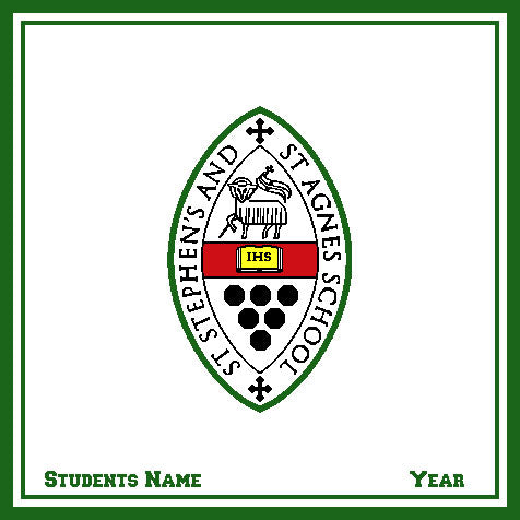 Custom St. Stephen & St. Agnes School Natural Base Seal with Name and Year