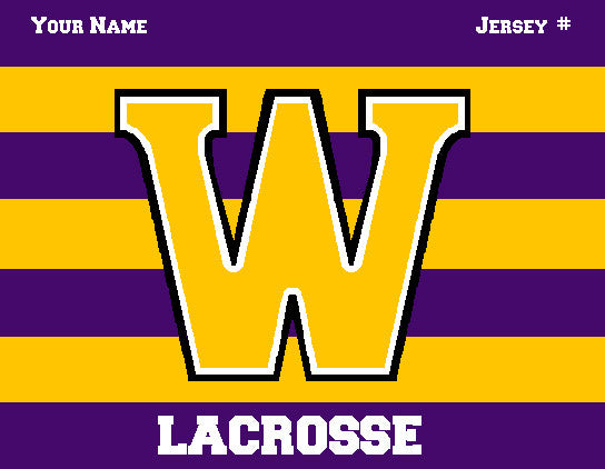 Williams College Striped Men's Lax Name & Number