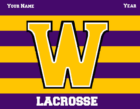 Williams College Striped Men's Lax Name & Year