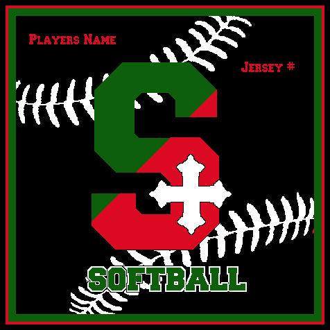 SSSA Softball Blanket 50 x 60  Customized Name & Number