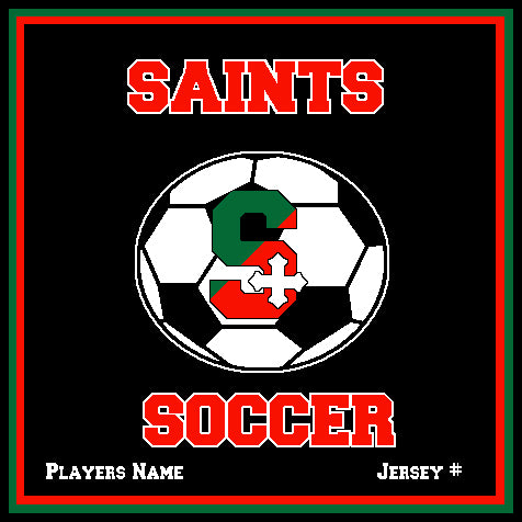 SSSA Men's Soccer Blanket 50 x 60  Customized Name & Number
