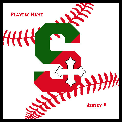 SSSA Baseball Blanket 50 x 60  Customized Name & Number