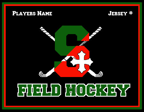 SSSA Field Hockey  Blanket 60 x 50  Customized Name & Number