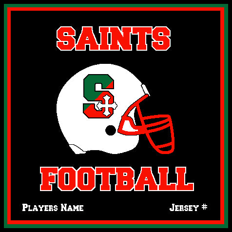 SSSA Football Blanket 50 x 60  Customized Name & Number