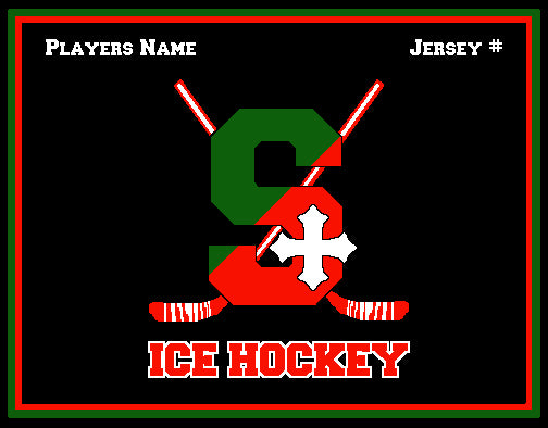 SSSA Ice Hockey Blanket 60 x 50  Customized Name & Number