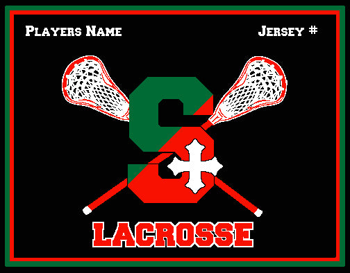 SSSA Lacrosse Blanket 60 x 50  Customized Name & Number