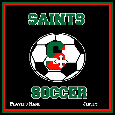 SSSA Women's Soccer Blanket 50 x 60  Customized Name & Number
