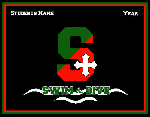 SSSA Swim & Dive Blanket Customized Name & Year 60 x 50