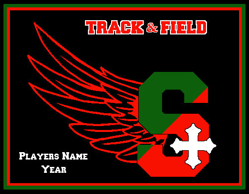 SSSA Track & Field Blanket Customized Name & Year 60 x 50