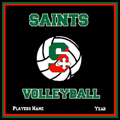 SSSA Volleyball Blanket 50 x 60  Customized Name & Number