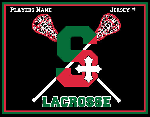 STSA Women's Lacrosse Blanket 60 x 50  Customized Name & Number